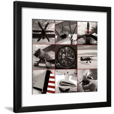 Aircraft Montage-Matt McCarthy-Framed Art Print