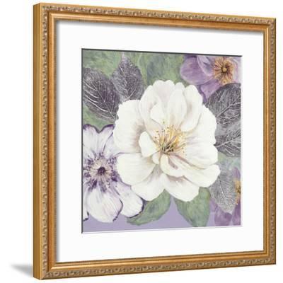Plum and Lavender Garden 1-Colleen Sarah-Framed Art Print