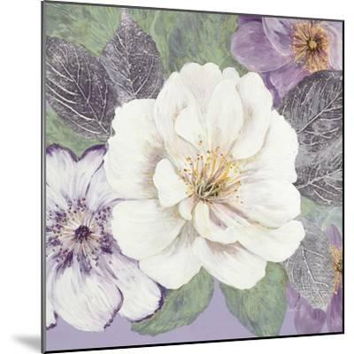 Plum and Lavender Garden 1-Colleen Sarah-Mounted Art Print