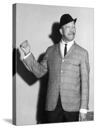 Redd Foxx, Backstage, Chicago's Tivoli Theater, May 1961-Isaac Sutton-Stretched Canvas Print