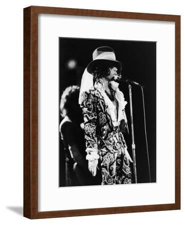 Prince Sings in Concert, 1984-Vandell Cobb-Framed Photographic Print