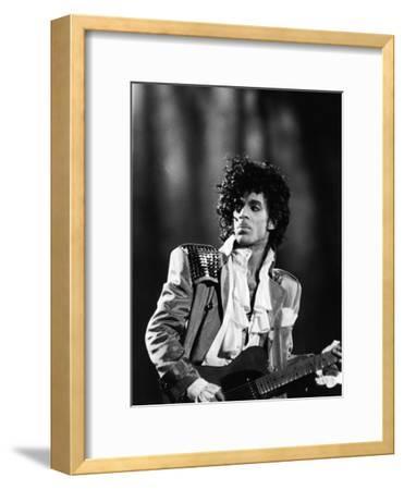 Prince, Concert Performance, 1984 Photo-Vandell Cobb-Framed Photographic Print