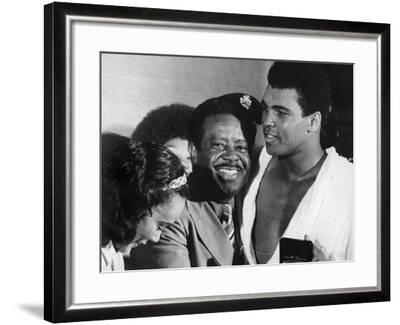 Muhammad Ali Appears with Civil Rights Activists, Ralph Abernathy and Coretta Scott King-Robert Johnson-Framed Photographic Print