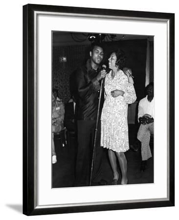 Muhammad Ali,  Althea Gibson, July, 1975-Lucus Robert-Framed Photographic Print
