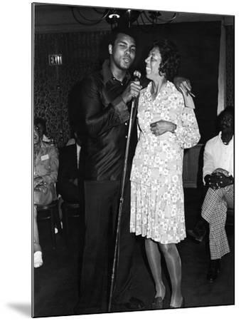 Muhammad Ali,  Althea Gibson, July, 1975-Lucus Robert-Mounted Photographic Print