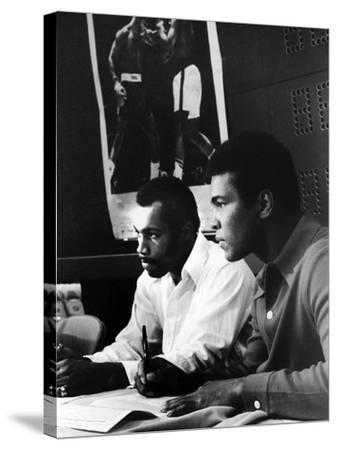 Muhammad Ali and Ken Norton, March of 1973-Ted Williams-Stretched Canvas Print