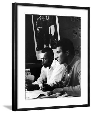 Muhammad Ali and Ken Norton, March of 1973-Ted Williams-Framed Photographic Print