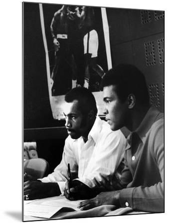 Muhammad Ali and Ken Norton, March of 1973-Ted Williams-Mounted Photographic Print