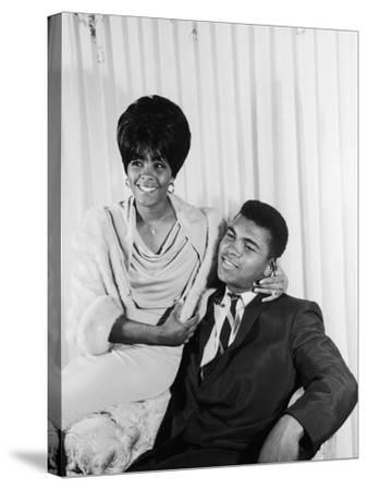 Muhammad Ali  with Wife Sonji Roi, August 1964-Isaac Sutton-Stretched Canvas Print