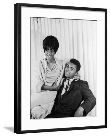 Muhammad Ali  with Wife Sonji Roi, August 1964-Isaac Sutton-Framed Photographic Print