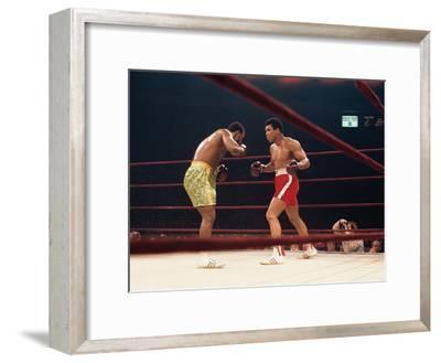 "Muhammad Ali and Joe Frazier, ""Fight of the Year"", March 8, 1971-Moneta Sleet Jr.-Framed Photographic Print"