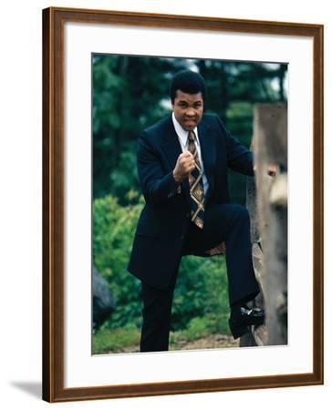 Muhammad Ali, Training Camp, July 1974-Leroy Patton-Framed Photographic Print