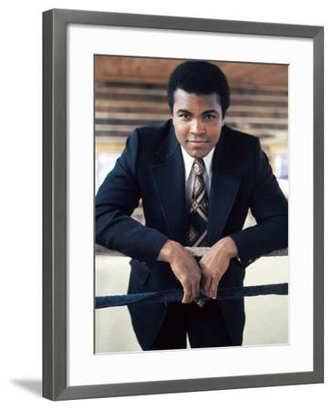 Muhammad Ali, Training Camp, July 1974-Leroy Patton-Framed Photographic Print