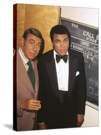 Muhammad Ali with Howard Cosell Backstage, July of 1975-Isaac Sutton-Stretched Canvas Print