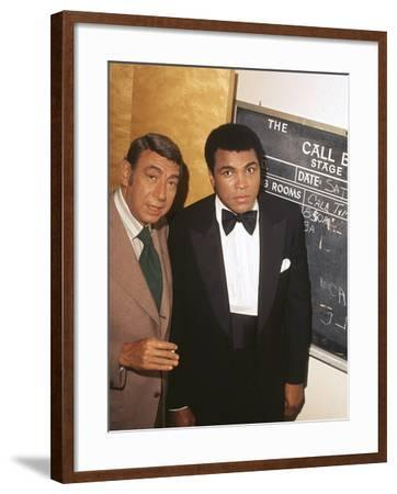 Muhammad Ali with Howard Cosell Backstage, July of 1975-Isaac Sutton-Framed Photographic Print