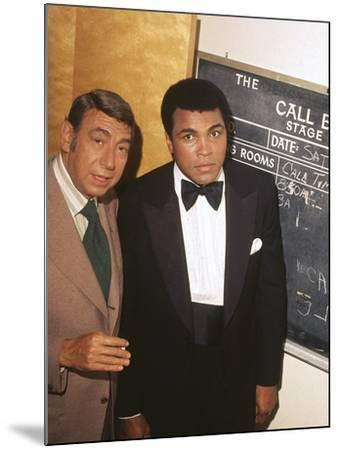 Muhammad Ali with Howard Cosell Backstage, July of 1975-Isaac Sutton-Mounted Photographic Print