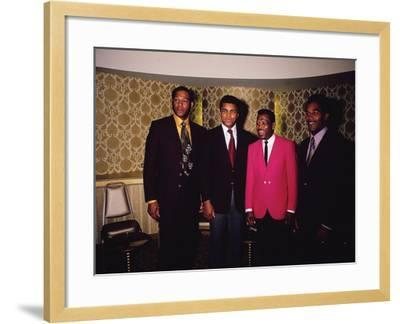 Muhammad Ali and Famous Athletes, January 1971-Leroy Patton-Framed Photographic Print