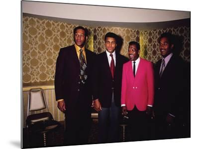 Muhammad Ali and Famous Athletes, January 1971-Leroy Patton-Mounted Photographic Print