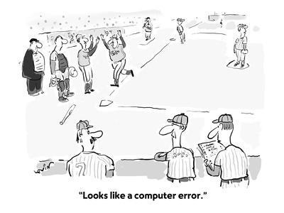 """Looks like a computer error."" - Cartoon-Arnie Levin-Framed Premium Giclee Print"
