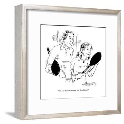 Wife to husband after a game of tennis. - New Yorker Cartoon-William Hamilton-Framed Premium Giclee Print