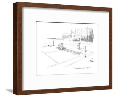 """You're a damn sore loser, Lee."" - New Yorker Cartoon-James Stevenson-Framed Premium Giclee Print"