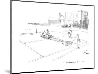 """You're a damn sore loser, Lee."" - New Yorker Cartoon-James Stevenson-Mounted Premium Giclee Print"