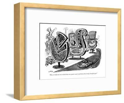 """""""Man, it really tears me to think that some squares want to pull down thes?"""" - New Yorker Cartoon-Warren Miller-Framed Premium Giclee Print"""