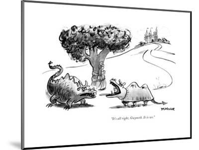 """""""It's all right, Gwyneth. It is we."""" - New Yorker Cartoon-Frank Modell-Mounted Premium Giclee Print"""