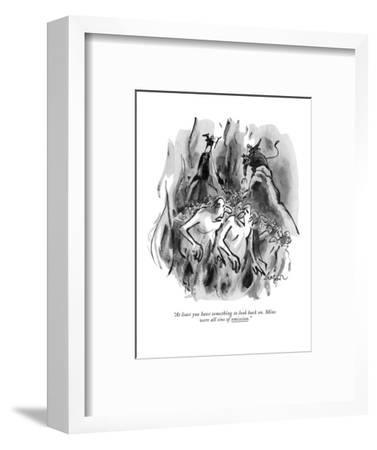 """""""At least you have something to look back on. Mine were all sins of omissi?"""" - New Yorker Cartoon-Lee Lorenz-Framed Premium Giclee Print"""