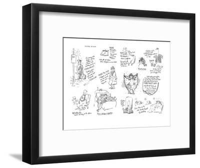 Keeping Warm - New Yorker Cartoon-George Booth-Framed Premium Giclee Print