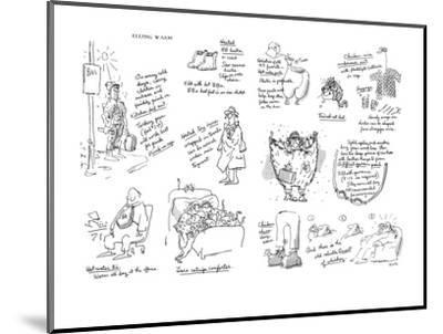 Keeping Warm - New Yorker Cartoon-George Booth-Mounted Premium Giclee Print