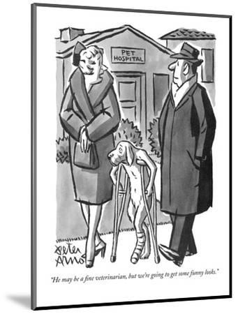 """""""He may be a fine veterinarian, but we're going to get some funny looks."""" - New Yorker Cartoon-Peter Arno-Mounted Premium Giclee Print"""