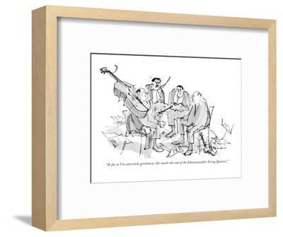 """""""As far as I'm concerned, gentlemen, this marks the end of the Schwarzwald?"""" - New Yorker Cartoon-James Stevenson-Framed Premium Giclee Print"""