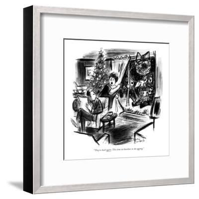 """""""They're back again. This time no bourbon in the eggnog."""" - New Yorker Cartoon-Whitney Darrow, Jr.-Framed Premium Giclee Print"""