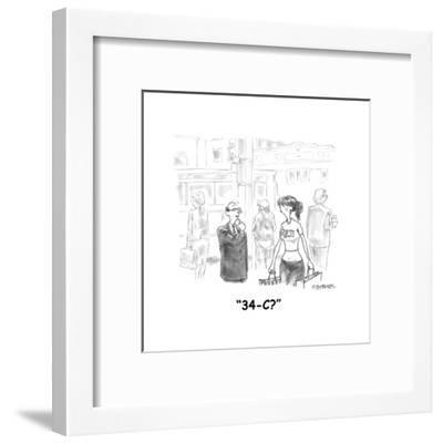 """34-C?"" - Cartoon-Pat Byrnes-Framed Premium Giclee Print"