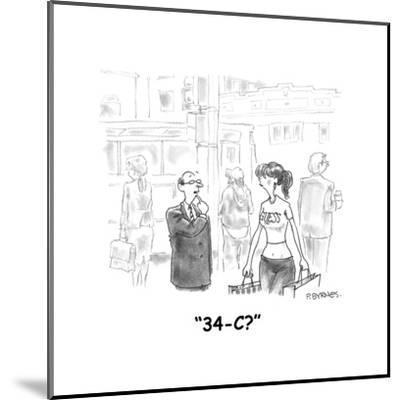 """34-C?"" - Cartoon-Pat Byrnes-Mounted Premium Giclee Print"