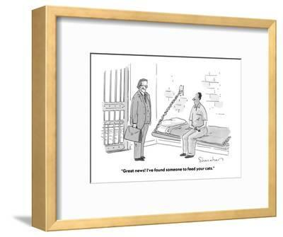 """""""Great news! I've found someone to feed your cats."""" - Cartoon-Danny Shanahan-Framed Premium Giclee Print"""