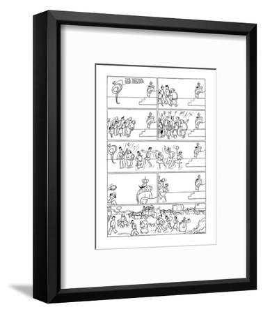 The Little King. Gypsies visit the king and he packs up and goes with them. - New Yorker Cartoon-Otto Soglow-Framed Premium Giclee Print