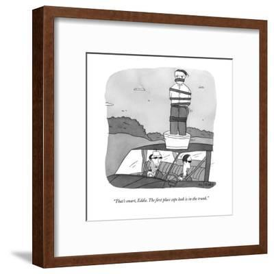 """That's smart, Eddie.  The first place cops look is in the trunk."" - New Yorker Cartoon-Peter C. Vey-Framed Premium Giclee Print"