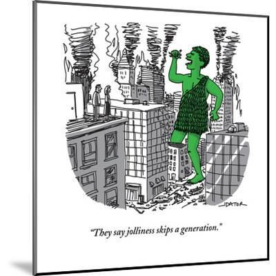 """They say jolliness skips a generation."" - New Yorker Cartoon-Joe Dator-Mounted Premium Giclee Print"