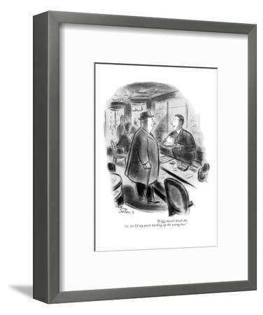 """If this doesn't break the ice, sir, I'd say you're barking up the wrong t?"" - New Yorker Cartoon-Whitney Darrow, Jr.-Framed Premium Giclee Print"