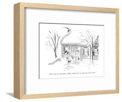 """""""Along about the third quarter, I finally realized that I no longer have w?"""" - New Yorker Cartoon-Everett Opie-Framed Premium Giclee Print"""