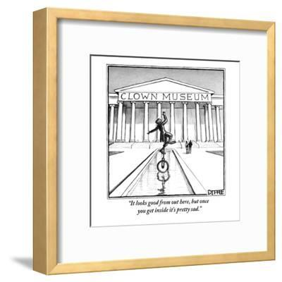 """""""It looks good from out here, but once you get inside it's pretty sad."""" - New Yorker Cartoon-Matthew Diffee-Framed Premium Giclee Print"""