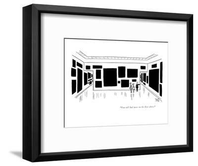 """""""You will find more on the floor above."""" - New Yorker Cartoon-Robert J. Day-Framed Premium Giclee Print"""