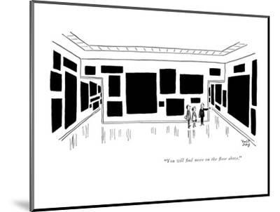 """""""You will find more on the floor above."""" - New Yorker Cartoon-Robert J. Day-Mounted Premium Giclee Print"""