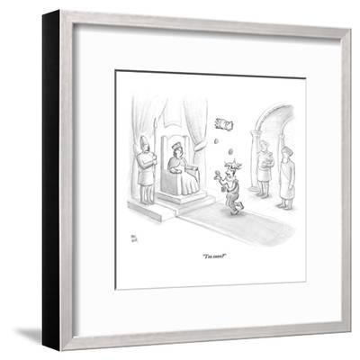 """Too soon?"" - New Yorker Cartoon-Paul Noth-Framed Premium Giclee Print"