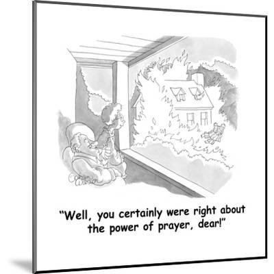 """""""Well, you certainly were right about the power of prayer, dear!"""" - Cartoon-Gahan Wilson-Mounted Premium Giclee Print"""