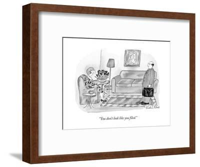 """""""You don't look like you filed."""" - New Yorker Cartoon-Victoria Roberts-Framed Premium Giclee Print"""