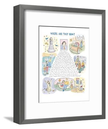 Where Are They Now?' - New Yorker Cartoon-Roz Chast-Framed Premium Giclee Print