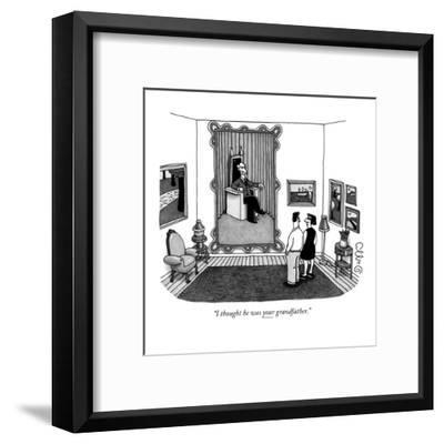 """""""I thought he was your grandfather."""" - New Yorker Cartoon-J.C. Duffy-Framed Premium Giclee Print"""
